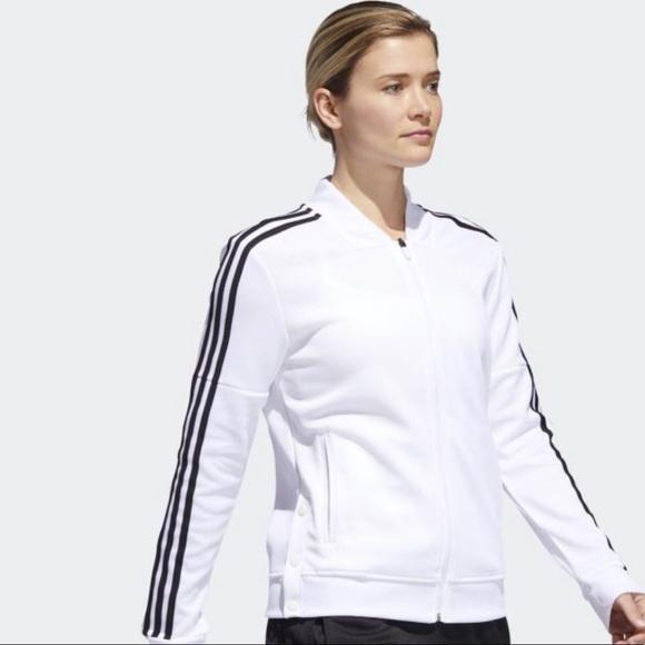 659e4331560 adidas Jackets & Coats   Womens Tricot Snap Tt Jacket White   Poshmark